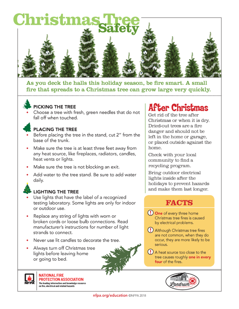 Christmas Tree Safety 2018